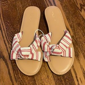 NWT American Eagle Striped Knot Strap Sandals 9